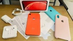 Título do anúncio: IPhone XR Coral de 64gb 4G Anatel completo na caixa com todos acessórios!