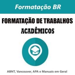 São Gonçalo  - Formatação (monografia, tcc), ABNT, APA, Vancouver / Plágio e slides