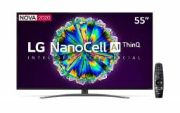 Smart Tv led 55'' Lg 55NANO86 Ultra Hd 4K NanoCell ips WiFi Bluetooth hdr lacrada com nf