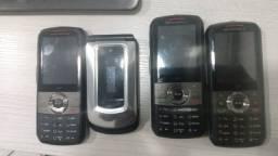 Telefones sem fio e celular nextel.