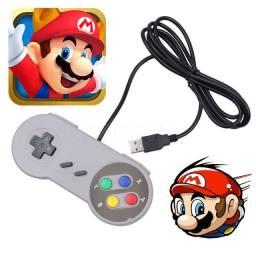 Título do anúncio: Controle Super Nintendo Pc Notebook Com Fio Usb p Jogos Retrô Gamepad