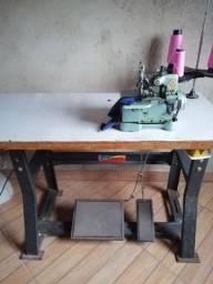 Máquina de overloque semi industrial