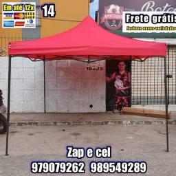 Título do anúncio: Tenda Sanfonada 3x3m e 2x2m galvanizada entrega grátis em sua residência