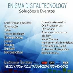 Som, DJ, Iluminação e Telão apartir de 200 reais.