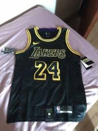 Camiseta Lakers Kobe Bryant 24 Black Mamba