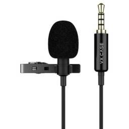 Microfone de lapela, para smartphones