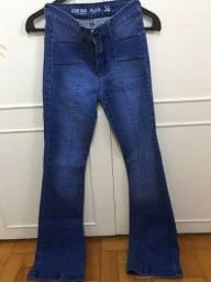 Calça jeans flare - TAM 36 (Forma pequena)