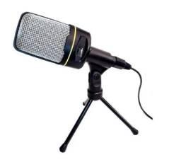 Microfone Condensador De Mesa Para Gamer E Live Com Pedestal - 8250