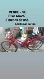 Bike feminina aro 26 vermelha
