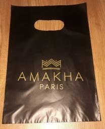 100 Sacolas de plástico Amakha Paris personalizada 20x30