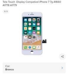 Título do anúncio: Tela iphone 6g Plus branca,  7g branca