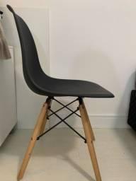 cadeira charles eames para escrivaninha cor preta