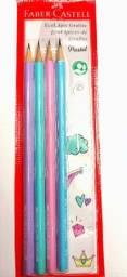 Lápis Faber Castell 4 peças edição pastel