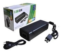 Fonte Xbox360 Slim Bivolt 110v-220v 135wac Cabo De Força 60s - 8586