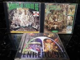 CD Sambas de Enredo Carnaval RJ (Lote com 3)