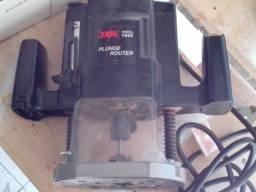 """Tupia manual eletrica 1 3/4HP, pinça de 1/4"""" diametro"""