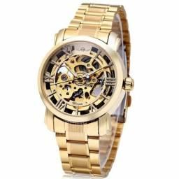 Relógio masculino alto mecânico winner W136-G dourado