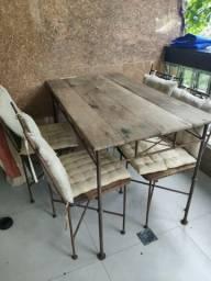 Conjunto mesa e cadeiras + sofa para varanda ou jardim ou varanda
