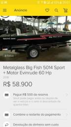 Vendo lancha Metal Glass 5014 srport Big Fisher - 2016