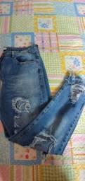 Calça Jeans Usada 2x 44 Sem elastano