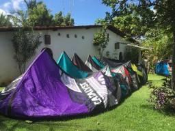 Pipas e barras para kitesurf (várias opções)