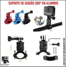 Suporte de Guidão 360° em Alumínio Para GoPro, Sjcam e Similares