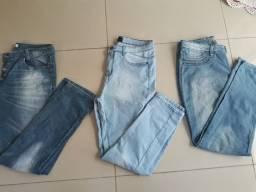 3 calças numero 46 por 45 reais