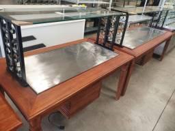 Buffet quente ou frio madeira rustica sob medida/ Br Cozine