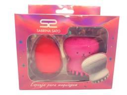 Esponja de Maquiagem + Esponja Limpeza Facial Sabrina Sato