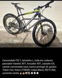 Bicicleta Cannondale FSI 1 carbon, R$15.200
