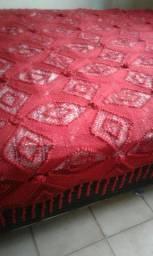 Colcha de croché feita a mão