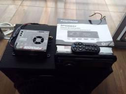 Rádio DVD pósitron com caixa e módulo sd 250