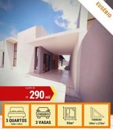 Casa Plana no Eusébio - Venda - R$ 290.000,00 - Pronta Para Morar!!!