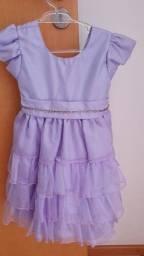 Vestido de festa princesa, tamanho 2 -3 anos