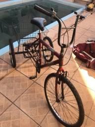 Bicicleta triciclo com marcha