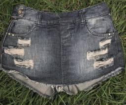 Short-saia jeans
