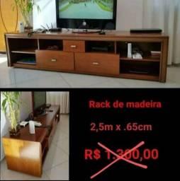 Título do anúncio: Rack de Madeira, Caiu o preço ?