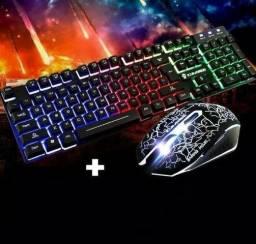 Kit Teclado + mouse iluminado Leon= KM-680