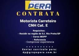 Grupo Pera Contrata Motorista CNH E