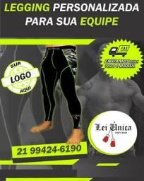 Legguing masculinas e femininas personalizada para equipes de luta e academia