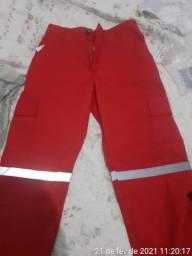 Calça de Bombeiro Civil ( vermelha )