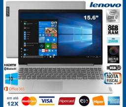 "Título do anúncio: Notebook Lenovo Core i7 8GB, SSD 256GB, Tela 15.6"", Iris Plus, Novíss, Cx, NF, Gar, Troco"