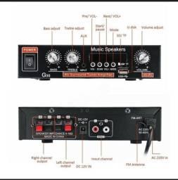 rádio FM G30 HiFi Bluetooth Suporte SD / USB / DVD / MP3 com controle remoto