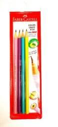 Lápis Faber Castell 4 lápis coloridos edição limitada