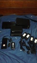 lote com aparelhos e acessórios para tv à cabo