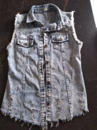 Colete Jeans, tamanho M