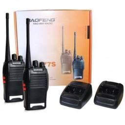 Par De Radios Comunicador 777 Ht Uhf 16 Canais Profissional (Zero novo)