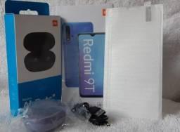 """Xiaomi Redmi 9T 4gb ram 128gb + Redmi AirDots """"S""""(Aceita Cartão em até 10x sem juros)"""