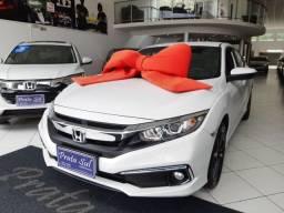 Título do anúncio: Honda Civic EX 2.0 Aut 2020, Na Garantia, Couro, Mulrimidia, Apenas 17Mil KM, Periciado