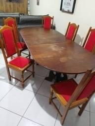 Mesa colonial 6 cadeiras
